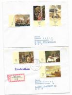 DDR 2x Brief Satzbrief Reco Mi.2726-2731 Theissen 1982 N. Stuttgart (55) - DDR