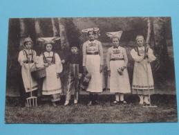 Gebuurte VOORMUIDE Kinderstoet - De Nationale Klederdrachten ( DENMARK / DANEMARK ) 1912 ( Zie Foto´s Voor Detail ) - Danemark