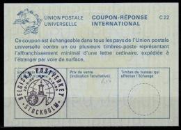 SWEDEN / BELGIUM STOCKHOLMIA 86  La24 International Reply Coupon Reponse Antwortschein IRC IAS O Issued By BELGIUM POST - Ganzsachen