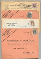 BELGIUM - City Cancels  At Railroad Stations Prior To Being Placed On Train. - 16 Covers - Bahnwesen