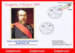 ANNULLO ANNIVERSARIO 157° BATTAGLIA MAGENTA - 1946-.. Republiek