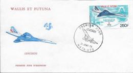 WALLIS Et FUTUNA Poste Aérienne  71 FDC 1er Jour : Avion Supersonique Concorde Cachet Mata-Utu 21 Janvier 1976