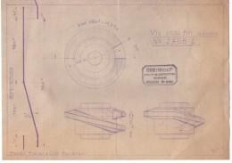 Plan Technique - Technisch Plan - Diagramme - Staubli Frères Ateliers De Construction - Favernes Hte Savoie - Machines
