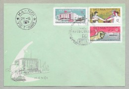 NORTH VIET NAM -FIRST DAY COVER  Wartime Cover- Military Strength -1964 - Vietnam
