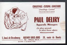 (Aulnay Sous Bois 93 Saine St Denis)  Buvard PAUL DELIRY (PPP4005) - Buvards, Protège-cahiers Illustrés