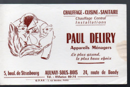 (Aulnay Sous Bois 93 Saine St Denis)  Buvard PAUL DELIRY (PPP4005) - H