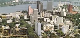 ABIDJAN, Le Plateau Vu D'avion, CPCM Couleurs 21x10 - Ivory Coast