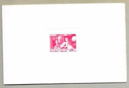BELGIUM - COB 1869 DELUXE SHEET-STAMP PRINTER IN RED - 1000 ISSUED -UNPRICED IN THE COB - Luxusblätter