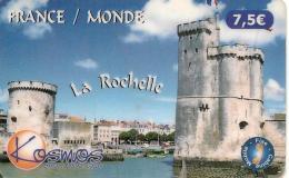 CARTE§-PREPAYEE-KOSMOS-7.5€ -TOURS DU PORT DE LA ROCHELLE-1100ex-04/04-Exp31/01/2007-T BE-RARE - France