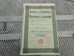 TRANSPORTS ET MESSAGERIES DE L'INDOCHINE (fondateur) SAIGON-COCHINCHINE - Unclassified
