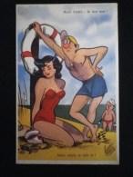 FEMME SEXY PIN-UP ESCARPINS BAIGNEUSE MAILLOT DE BAIN ILLUSTRATEUR PEDRO SEGUI - Künstlerkarten
