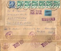 Airmail Registered  Hempstead - Solothurn           1961 - Verenigde Staten