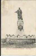 PORT SAÏD , Statue De Ferdinand De Lesseps , CPA ANIMEE - Port Said