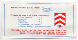Publicité LORRAINE-LAIT--Fromages-Beurres STIL-Bénestroff--Longwy-Nancy--Lisbeth-Fromages-Munster,Marimont..... - Publicités