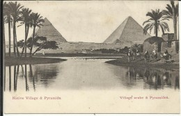 Village Arabe & Pyramides ; Native Village & Pyramids , CPA ANIMEE - Pyramides