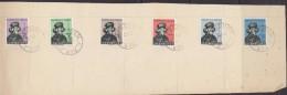 Luxemburg 1938 Caritas 6v Used On Paper Ca Berchem 2-12-1938 (2nd Day Of Issue) (F5791) - Ongebruikt