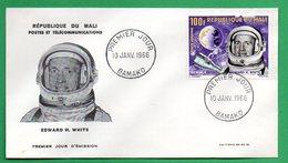 Mali-FDC- 1966 - Cosmonautes -Edward H. WHITE - Mali (1959-...)