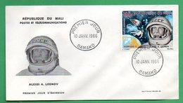 Mali-FDC- 1966 - Cosmonautes -Alexei A. LEONOV - Mali (1959-...)