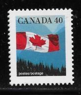 CANADA, 1990.  # 1169   FLAG OVER MOUNTAIN  SINGLE   MNH - 1952-.... Reign Of Elizabeth II