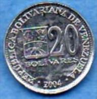 VENEZUELA  20 Bolivares  2004  UNC / NEUVE - Venezuela