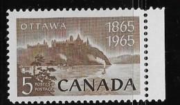 CANADA 1965, # 442.  NATIONAL CAPITAL: PARLIAMENT BUILDING Rear View   Mnh Single - Neufs