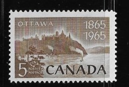 CANADA 1965, # 442.  NATIONAL CAPITAL: PARLIAMENT BUILDING Rear View   Mnh Single - 1952-.... Reign Of Elizabeth II