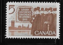 CANADA, 1966, #448 , CANADIAN DELEGATION  At THE LONDON CONFERENCE,MNH - Neufs