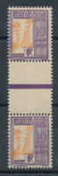 Guadeloupe N°28 Taxe (*) Paire Avec Intervalle - Postage Due