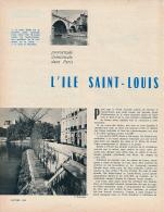 1965 : Document, L'ILE SAINT-LOUIS (7 Pages Illustrées) Pont Marie, Quai De Bourbon, Quai D'Anjou, Rue De Bretonvilliers - Vieux Papiers