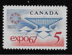 CANADA , 1967, #469, EXPO 67: KATIMAVIK CANADIAN PAVILLION, SINGLE     MNH