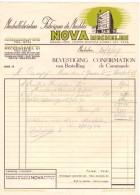 Factuur Facture - Meubelfabriek NOVA Mechelen 1949 - Non Classés