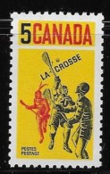 CANADA 1968, # 483, LACROSSE: PLAYERS   MNH       Single - Neufs