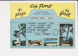 """33 Cap Ferret Télégramme """"spécial Vacances"""" Cachet Cap Ferret - France"""