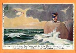 CAL1469, Enfant, Des Meeres Und Der Liebe Wellen, Le Baiser Au Bord De La Mer, Circulée 1923 Sous Enveloppe - Non Classificati