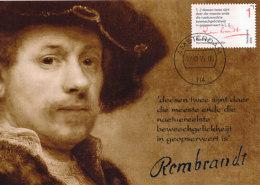 D26190 CARTE MAXIMUM CARD FD 2015 NETHERLANDS - LETTER REMBRANDT + AUTOGRAPH CP ORIGINAL - Rembrandt