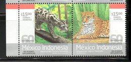 MEXICO, 2013,PANTERA, JAGUAR, 2v, MNH** - Timbres