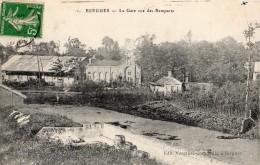 BERGUES LA GARE VUE DES REMPARTS - Berlaimont