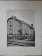 ARCHITECTURE - 2 Planches De Maison Avec Plan - 92 COURBEVOIE - Architecte: A. BERNET - Maisons économiques - Architecture