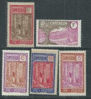 Cameroun N° 138 / 42 X  Partie De Série : Les 5  Valeurs Trace De Charnière SinonTB - Cameroun (1915-1959)