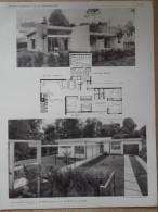 ARCHITECTURE - Planche De Maison Avec Plan - 92 VILLE D'AVRAY - Architectes C. PARENT Et Y. SCHEIN - Architecture