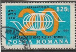 #198  WORLD TURISM ORGANISATION, ANNIVERSARY, 1994, Mi 5049, USED, ROMANIA. - Gebraucht