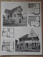 ARCHITECTURE - Planche De 2 Maisons Avec Plan - 92 SCEAUX - Architecte P. PATRY - Villas - Architecture