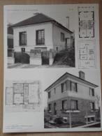 ARCHITECTURE - Planche De 2 Maisons Avec Plans - 92 SCEAUX Et ANTONY - Architecte LOISEAU - Villas - Architecture