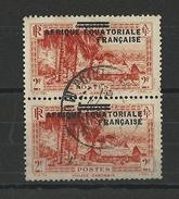 AEF - YVERT N° 26 En PAIRE OBLITERE  - COTE = 25 EUROS - - A.E.F. (1936-1958)