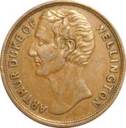 INGLATERRA. TOKEN. DUQUE DE WELLINGTON. ENGLAND - Monarquía/ Nobleza