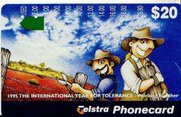 TELECARTE AUSTRALIE INTERNATIONAL YEAR FOR TOLERANCE