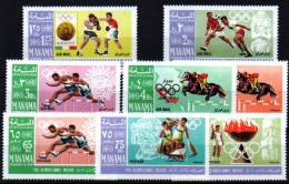 MANAMA Jeux Olympiques MEXICO 68. MICHEL N° 38/45. ** MNH. - Summer 1968: Mexico City