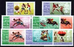 MANAMA Jeux Olympiques MEXICO 68. MICHEL N° 38/45. ** MNH. - Verano 1968: México