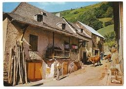 Belle CPSM SAINT BEAT Argut Dessus Ferme Animé élevage Vache 31 Haute Garonne - France