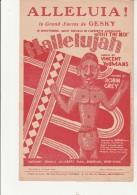 """PARTITION MUSICALE - ALLELUIA -OPERETTE AMERICAINE """"HIT THE DECK """"- MUSIQUE VINCENT YOUMANS -ANNEE 1927 - Scores & Partitions"""